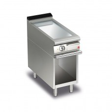 Baron Q70FTV/E405 Queen7 Electric Flat Chrome Griddle Plate On Open Cabinet - 400mm