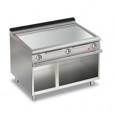 Baron Q70FTV/E1203 Queen7 Electric Flat Stainless Griddle Plate On Open Cabinet - 1200mm