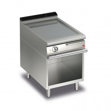 Baron Q70FTV/E603 Queen7 Electric Flat Stainless Griddle Plate On Open Cabinet - 600mm