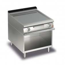 Baron Q70FTV/E803 Queen7 Electric Flat Stainless Griddle Plate On Open Cabinet - 800mm