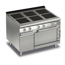 Baron Q70PCF/E121 Queen7 Electric Range 6 Square Cast Iron Plate and Electric Oven - 1200mm