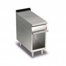 Baron Q70NEV/400 Queen7 Equipment Matching Stainless Bench Top On Open Cabinet - 400mm