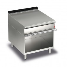 Baron Q70NEV/800 Queen7 Equipment Matching Stainless Bench Top On Open Cabinet - 800mm
