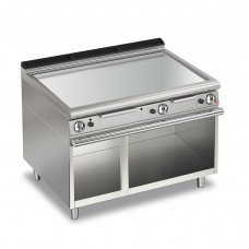 Baron Q70FTTV/G1205 Queen7 Gas Flat Chrome Griddle Plate Thermostat Cont. On Open Cabinet - 1200mm