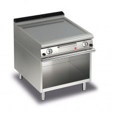 Baron Q70FTTV/G803 Queen7 Gas Flat Stainless Griddle Plate Thermostat Cont. On Open Cabinet - 800mm