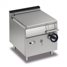 Baron Q70BR/G80 Queen7 Gas Manual Tiliting Bratt Pan