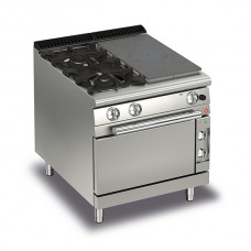 Baron Q70TPMF/GE8003SX Queen7 Gas Solid Top Range With 2 Burners On Left And Electric Oven - 800mm