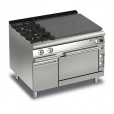 Baron Q70TPF/GE1203SX Queen7 Gas Solid Top Range With 2 Burners On Left and Electric Oven With Cupboard - 1200mm