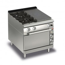 Baron Q70TPMF/G8003SX Queen7 Gas Solid Top Range With 2 Burners On Left And Gas Oven - 800mm