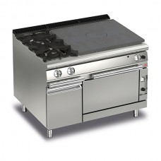 Baron Q70TPF/G1203SX Queen7 Gas Solid Top Range With 2 Burners On Left and Gas Oven With Cupboard - 1200mm