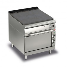 Baron Q70TPF/GE800 Queen7 Gas Solid Top Range with Electric Oven - 800mm