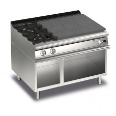 Baron Q70TPV/G1203SX Queen7 Gas Solid Top With 2 Burners On Left On Open Cabinet - 1200mm