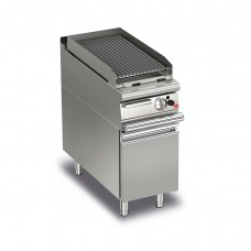 Baron Q70GLV/G400 Queen7 Lava Rock Grills On Open Cabinet - 400mm