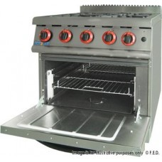 Gasmax by FED JZH-RP-4 Four Gas Burner Range With Large Oven