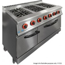 Gasmax by FED JZH-RP-6 Six Gas Burner Range With Large Oven