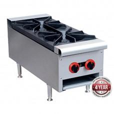 Gasmax by FED RB-2ELPG Gas Cook top LPG 2 burner
