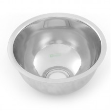 445 dia x 165 - Round Pressed Bowl. 50mm Centre Outlet