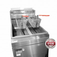 4 burner Gas fryer twin VAT 534x769x1195mm