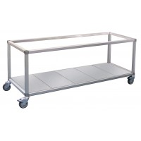 Trolley to suit all 2 row by 4 pan sized foodbars and bain maries