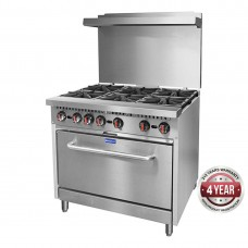 Gasmax by FED S36(T)PLPG 6 Burner With Oven Flame Failure Lpg