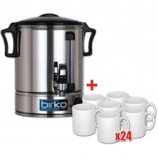 10Ltr Hot Water Urn & 24 Free Mugs