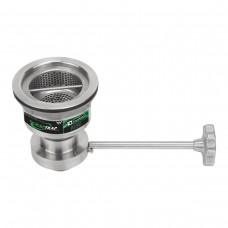 3monkeez Scrap-C Cast Stainless Sink Waste Arrestor (127mm) With Cast Stainless Shut Off Valve (304 grade SS)