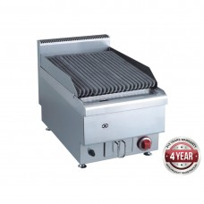 Gasmax by FED JUS-TRH40 Benchtop Gas Lava Rock Grill 400mm