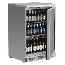 Polar CE205-A Single Door Back Bar Cooler St/St exterior Alu Interior with LED Lighting