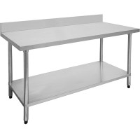 Budget Stainless Bench With Splashback 1800X600