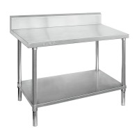 Premium Stainless Steel Bench With Splashback 1800x600