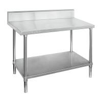 Premium Stainless Steel Bench With Splashback 1500x600