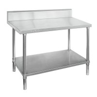 Premium Stainless Steel Bench With Splashback 300x700