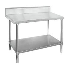 Premium Stainless Steel Bench With Splashback 300x700