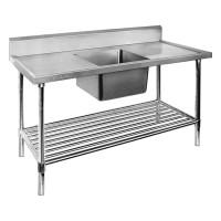 Premium Stainless Steel Bench Single Centre Sink 1500x600