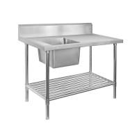 Premium Stainless Steel Bench Single Left Sink 1800x600