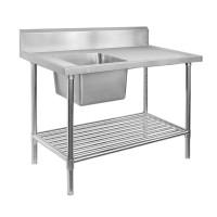 Premium Stainless Steel Bench Single Left Sink 2400x600