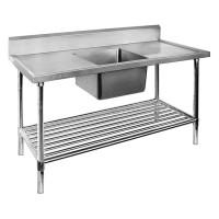 Premium Stainless Steel Bench Single Centre Sink 1800x700