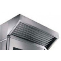 Stainless steel extractor hood with motor and air-cooled steam condenser