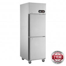 2x1/2 Door Stainless Steel Fridge 580L