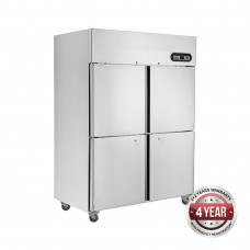 4x1/2 Door Stainless Freezer 1000L