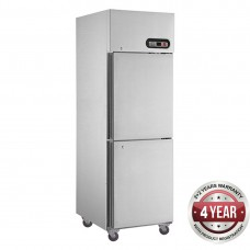 2x1/2 Door Stainless Steel Freezer 500L