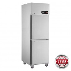 2x1/2 Door Stainless Steel Freezer 580L