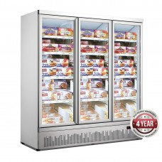 Triple Glass Door Colourbond Upright Freezer Bottom Mounted 1880X710X1990