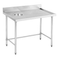 Stainless Steel Bench with LHS Waste Hole