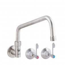 3monkeez T-3MCW12 Stainless Steel Wall Elbow, Wall Top Assemblies and Spout- 12 Spout