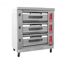 BakerMax by FED FED-3PD Three Deck Pizza Oven With Touch Panel, Stone Plate 1355X930X1650