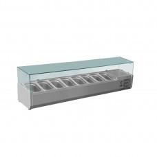 FED-X Countertop Ingredients Prep Fridge 1800mm Long (8x1/3GN)
