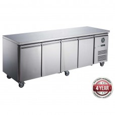 Thermaster by FED XUB7C22S4V FED-X Four Door Stainless Steel Bench Fridge