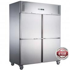 FED-X S/S Four Split Door Upright Freezer 1200L