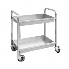 2 Tier S/S Trolley With 2 Deep Clearing Basin 855X535X940